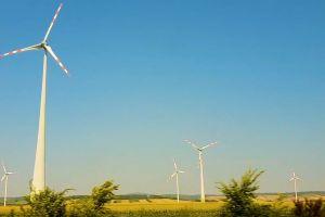 field landscape alternative wind turbines austria travel traveling nature converter motion