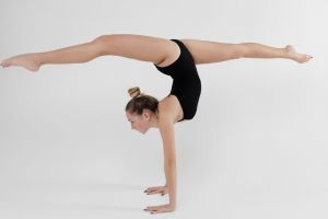 fitness sport active girl gymnast fitness model female body gymnastics activity
