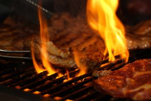 flames food flame cookout grilling beef fire braai bbq roast