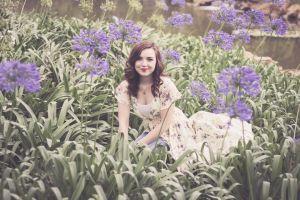 flowers femal flower portrait female model purple flower portrait photography dress model female portrait