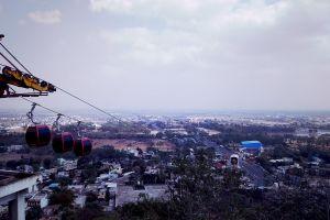 flying trolley day daytime city