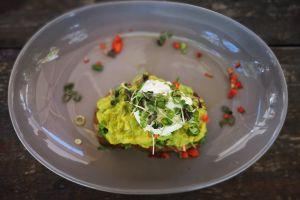 food art summer green food photography vibrant artistic avocado dark wood grey