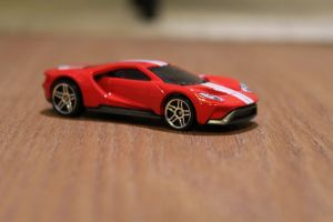 ford gt hotwheels depth of field toy car closeup