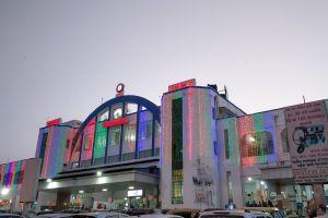 gujarat vadodara railway station lights vadodara railway station building heritage baroda alkapuri sayajiganj