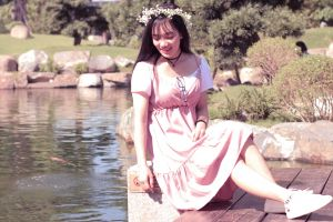 hair pretty self fashion tree girl beautiful daylight attractive photoshoot