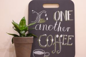 handmade chalk blackboard word plant string coffee black nature chalkboard