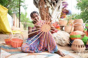 hard work cane artwork indianwoman art indian
