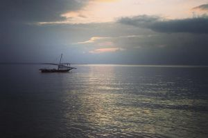 horizon sunset clouds ocean boat cloud sunrise