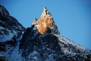 ice daylight scenic mnich landscape high tatras hike cold snow rock formation