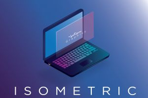 illustrate design isometric laptop illustration