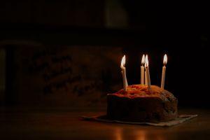 indulgence candlelight food blur celebration baked wood cake sweet light