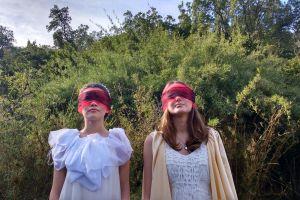 landscape girls blind surreal