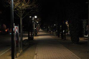 lights night boardwalk