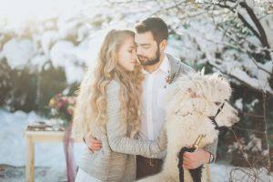 love heroesbrief woman man people winter llama snow animal