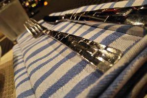 luxurious fine dining silverware night