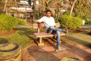 man in garden sunlight garden