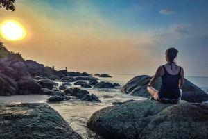 meditation krabi kata beach thailand beach