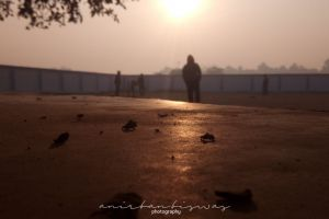 #mobilechallenge sunrise #outdoorchallenge people walking abstract photo morning sun good morning early morning sunrays adobe photoshop