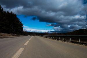 natural light clouds road colorful daytime 4k wallpaper wallpaper hd