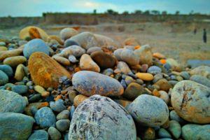 nature blue sky stone