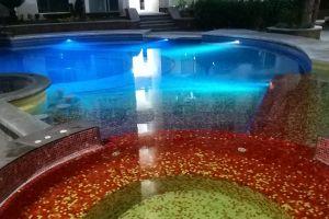 night colors mirror pool mirror image