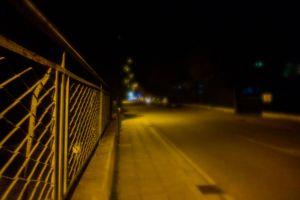 night night lights empty street