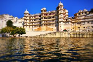palace architecture udaipur blue sky color beautiful rajasthan
