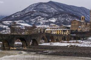panorama winter landscape landscape