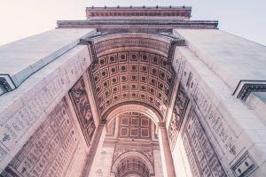 paris travel destination city arc building arc de triomphe buildings