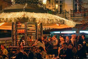 people christmas lights holidays kiok tram christmas magical streets