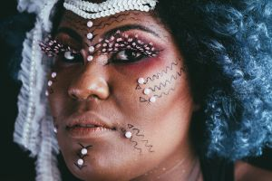 portrait beautiful beauty woman eyes make up