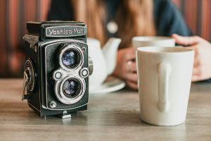 retro drink camera classic caffeine vintage coffee electronics