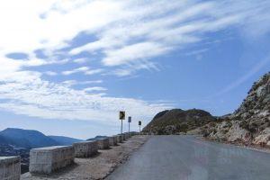 road sky mountain street