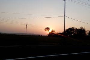 road sunset travel destination