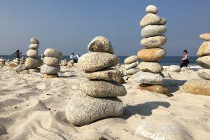 rocks sand ocean beach