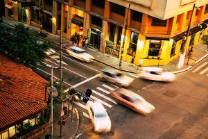 sao paulo motion blur transit automobile action street photography