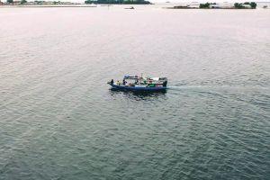 sea aerial watercraft drone footage vehicle landscape ocean sunset seashore water
