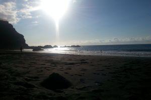 sea sun evening sun beach
