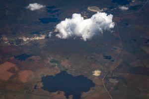 sky aerial view grow clouds aerial shot blue sky