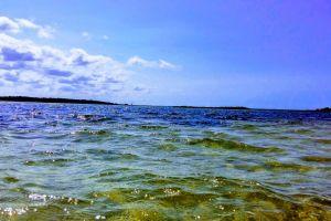sky blue sky water
