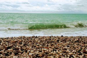 small stone mediterranean beach