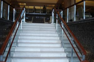 staircase glass stairs white stairs wooden stairs upstairs stairway building stairs fao structural