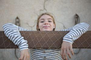 street fun smiles female model girl child