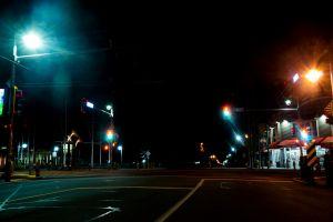 streets road streetlights darkstreet colors dark