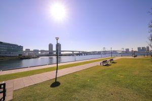 sun park odaiba tokyo water naim benjelloun nature trt digital green videography