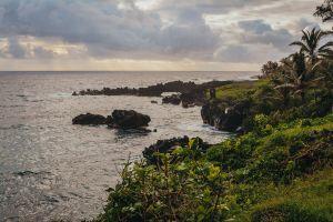 sunrise maui coast beach coast line hawaii