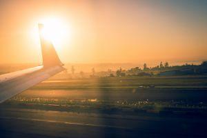 take off south africa aeroplane sunrise runway