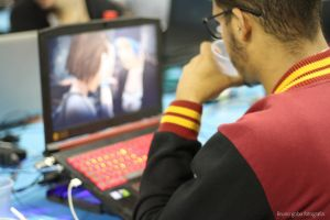 tech keyboard technology famous cosplay lecture gamer party campus brazil