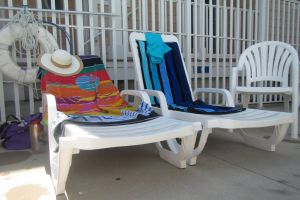 towels chairs hat summer