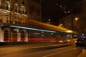 traffic night lights street vehicles long exposure night city road night street lights light trails